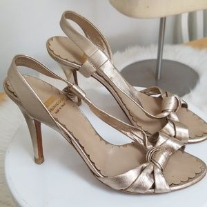 Moschino gold heels